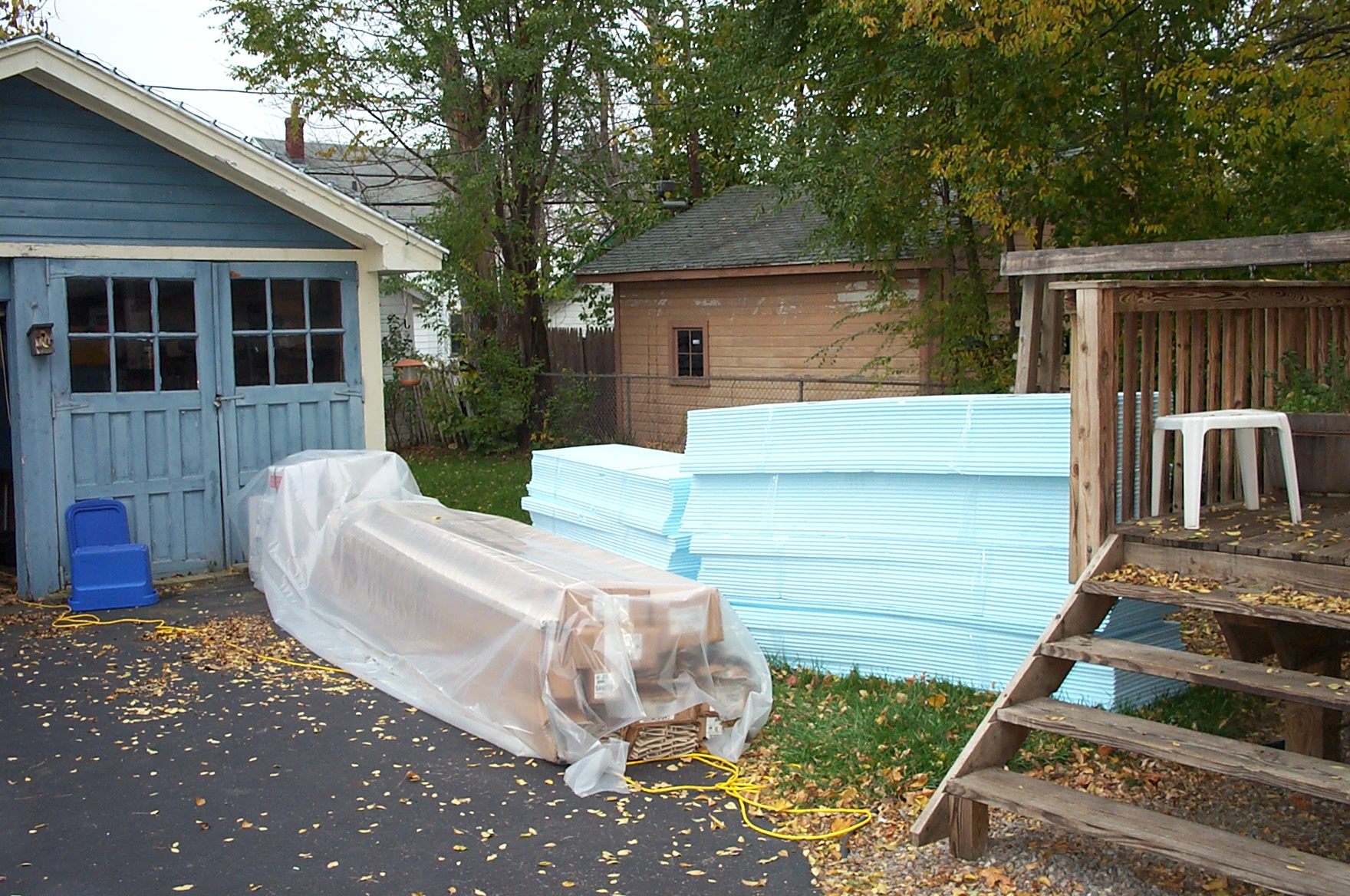 Truckload Of Materials For The New Siding